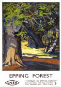 Rambles in Epping Forest, Essex. Vintage LNER Travel poster by E Harris. 1947
